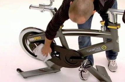 Limpieza bicicleta spinning