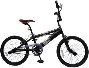 Bicicleta BMX Black Phantom Color Negro Ruedas de 20 Pulgadas Manillar de 360°