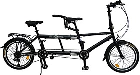 Bicicleta Tandem ECOSMO 50,8 cm plegable 7SP.